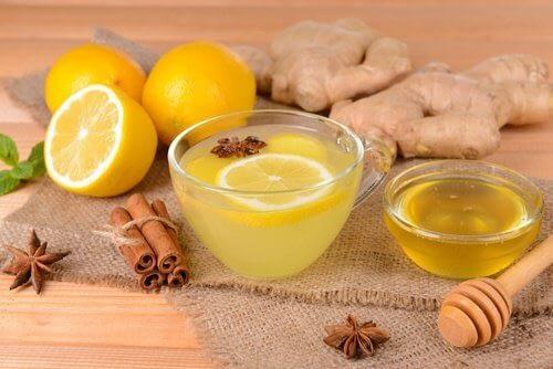 شاي الزنجبيل والليمون والقرفة إنقاص الوزن