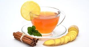 شاي الزنجبيل والليمون والقرفة للتخسيس